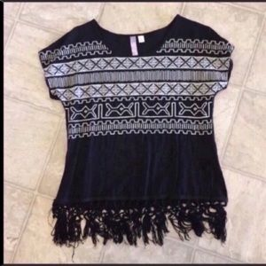 Francesca's Fringe Top
